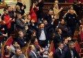 Члены украинской оппозиции на заседании Верховной Рады