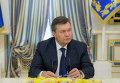 Президент Украины Виктор Янукович во время подписания соглашения об урегулировании кризиса на Украине