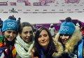 Волонтеры из Томска на лыжной трассе в Сочи