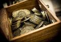 Ящик с монетами