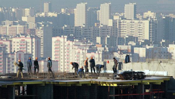 Строительство жилого квартала. Архивное фото