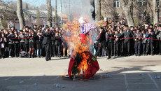 Праздник прощания с Масленицей в Душанбе