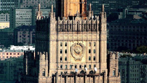 Здание МИД РФ на Смоленской площади в Москве, архивное фото