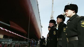 Спуск на воду фрегата Адмирал Григорович. Архивное фото.