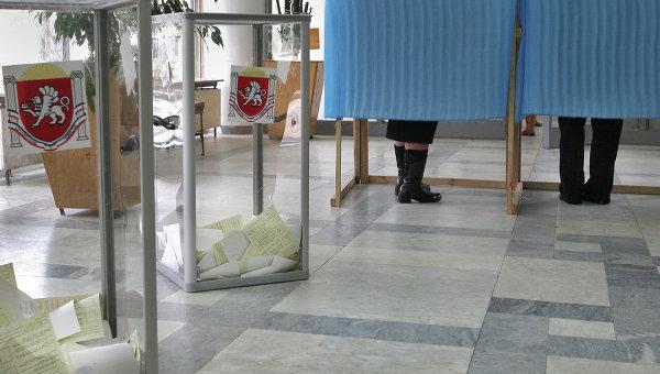 Референдум о статусе Крыма в Симферополе. Архивное фото