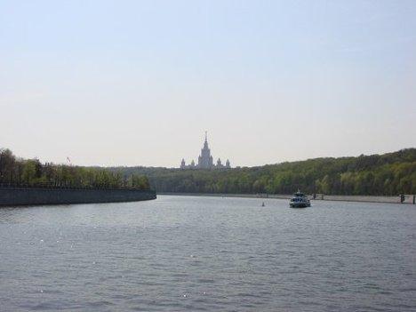 Вид с теплохода, маршрут, Москва