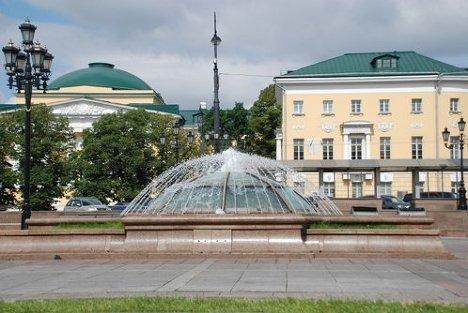 Фонтан, маршрут, Москва, Манежная площадь