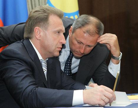 Встреча премьер-министра РФ В.Путина с В.Мясниковичем и К.Масимовым