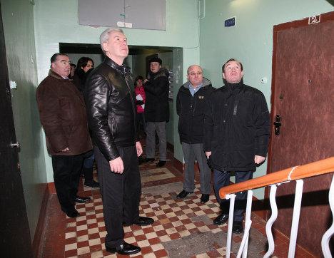 объезд мэра Москвы Сергея Собянина