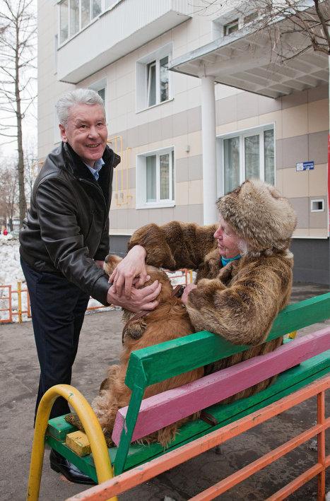 Сергей Собянин проверил ход работ по благоустройству в ЮЗАО г. Москвы
