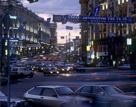 Тверская улица вечером