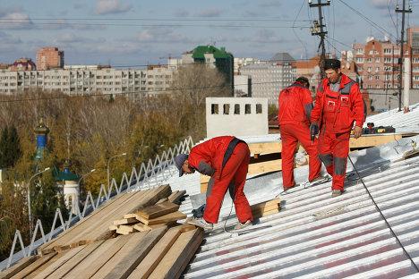 Работа коммунальных служб в Новосибирске