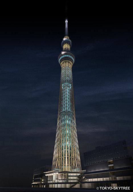 Здание самой высокой в мире телебашни Tokyo Sky Tree