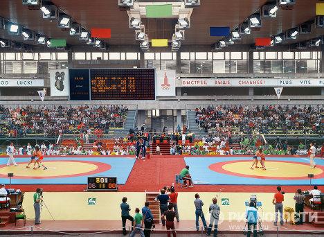 Соревнования по борьбе в спорткомплексе ЦСКА