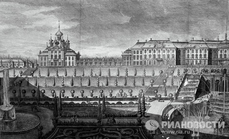 Петергофский дворец. Середина XVIII века