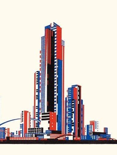 Архитектурная фантазия Чернихова на тему русского авангарда