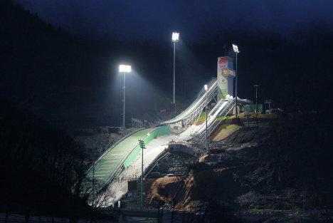 Комплекс лыжных трамплинов Русские Горки в Сочи
