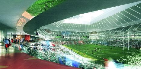 Проект регбийного стадиона во Франции