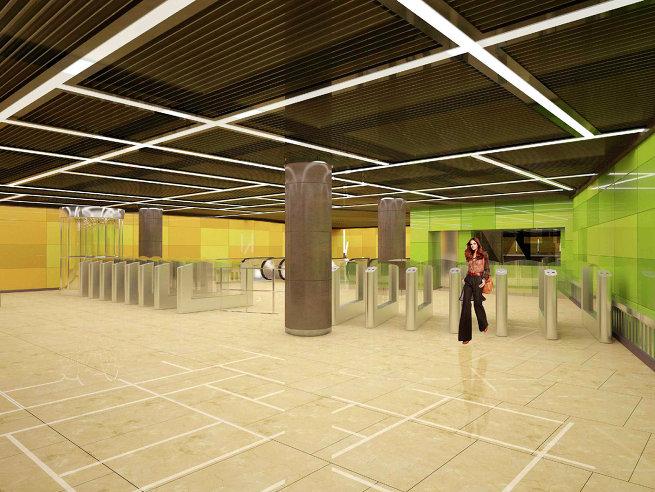 Проект станции метро «Ферганская улица»