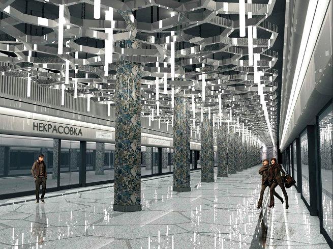 Проект станции метро «Некрасовка»