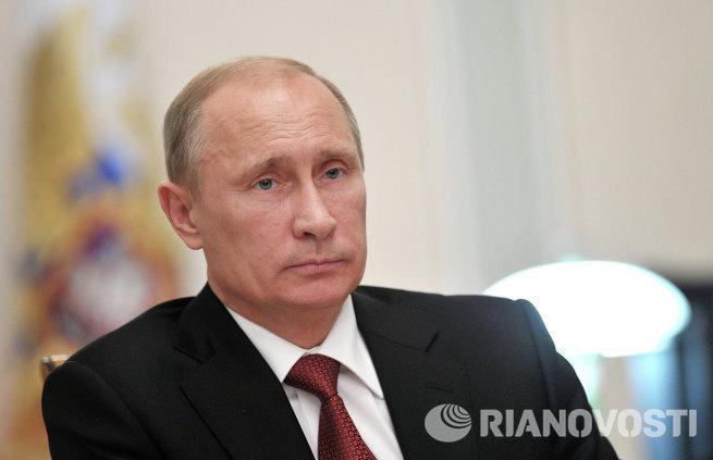 В.Путин проводит совещание в режиме видеоконференции