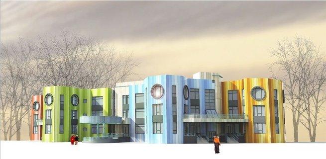 Фасадные решения типовых детских садов в Москве