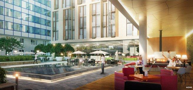 Архитектурная концепция пристройки к гостиничному комплексу «Волга»
