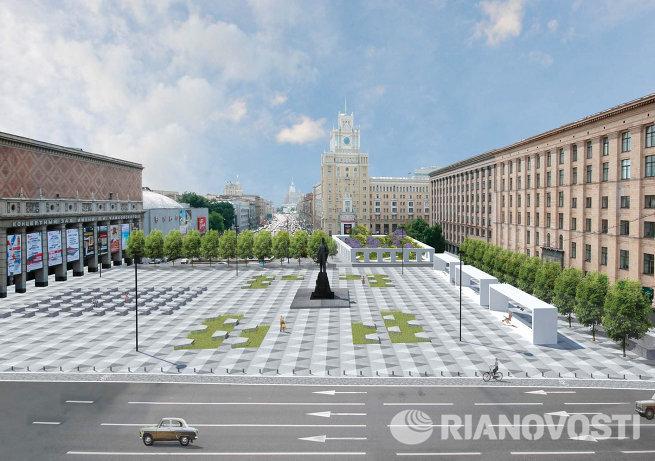 проект реконструкции Триумфальной площади компании Buro Moscau