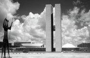 Вид на Национальный Конгресс Бразилии