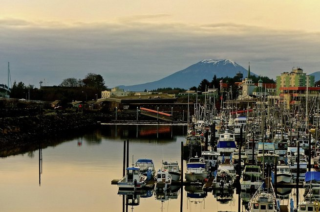 город Ситка на Аляске в США