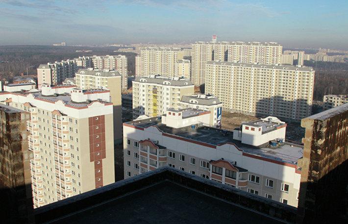 Вид на построенные дома жилого комплекса