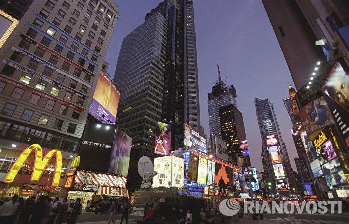 Небоскребы на площади Таймс-сквер