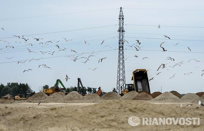 Строительство стадиона в Калининграде к ЧМ-2018