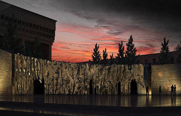 Проект памятника жертвам политический репрессий в Москве