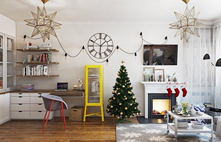 Новогодний и Рождественский декор дома 15