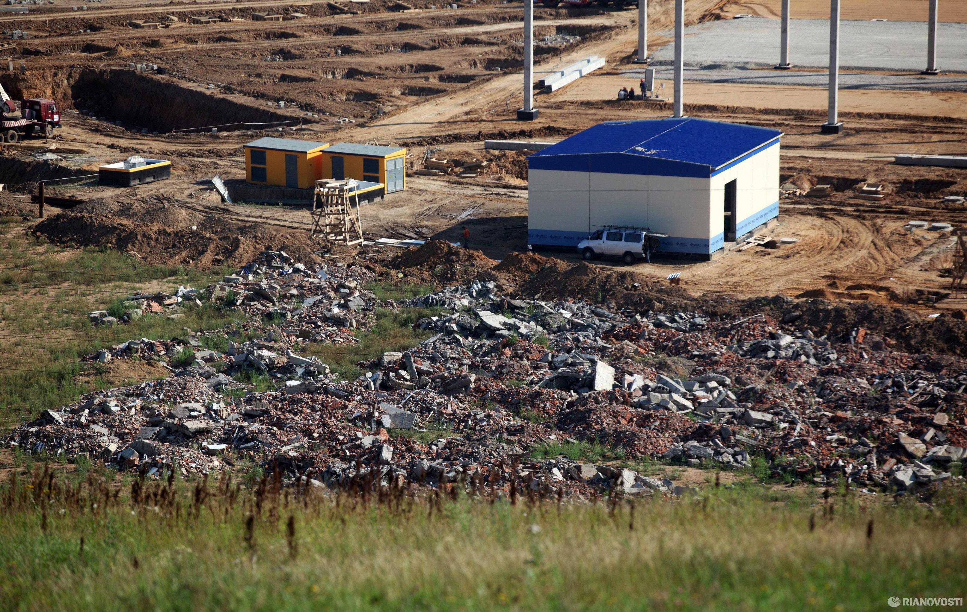 Полигон промышленных отходов в поселке Саларьево Московской области