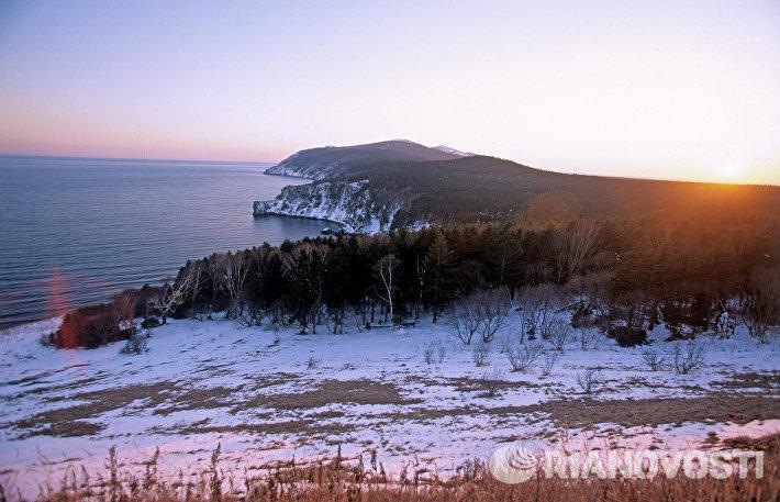 Вид на океан. Город Советская Гавань.