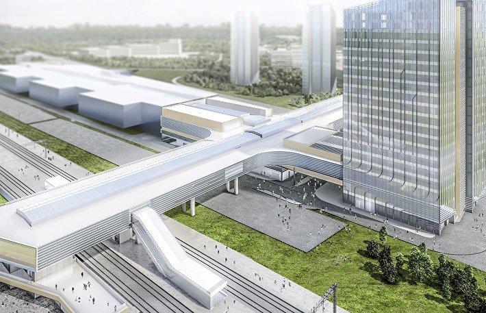 Новый мультимодальный транспортный узел, который появится в Одинцовском районе Подмосковья.