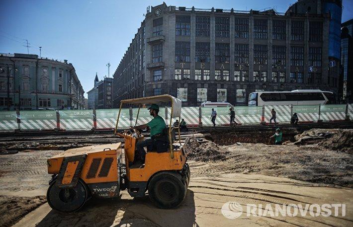 Масштабная реконструкция Тверской улицы в Москве