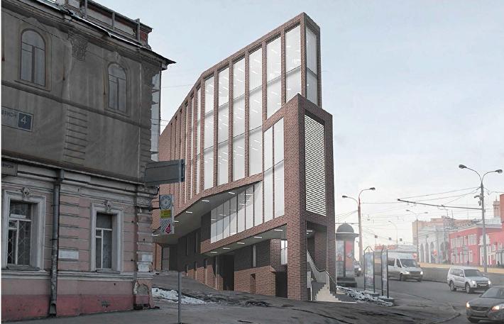 Главный фасад торгового центра у м. Таганская