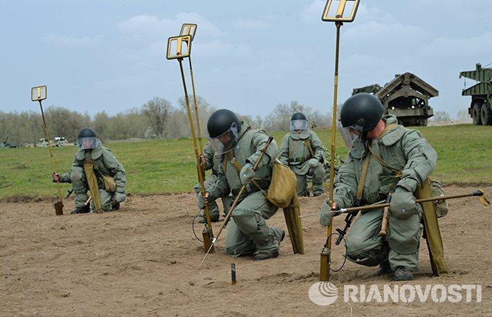 Военнослужащие инженерно-саперных подразделений
