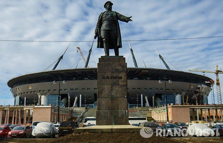 Строительство стадиона Зенит-Арена в Санкт-Петербурге