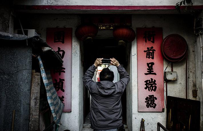 Жилые трущобы в одном из районов Гонконга