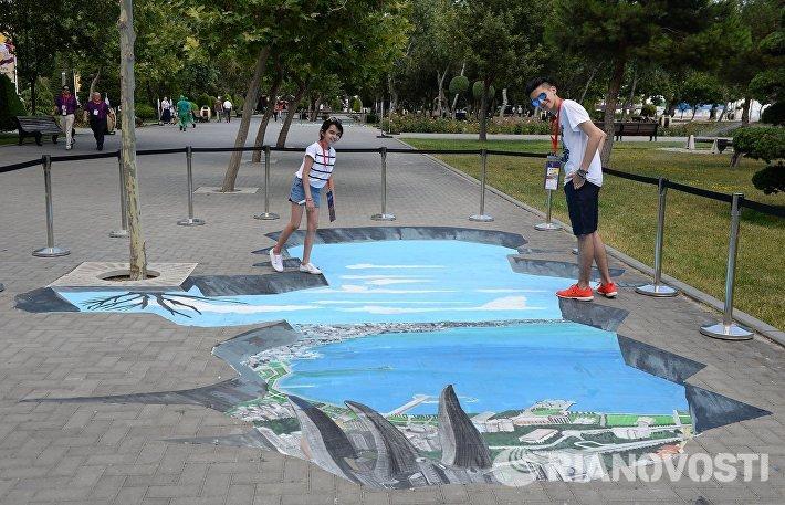 На набережной в городе Баку