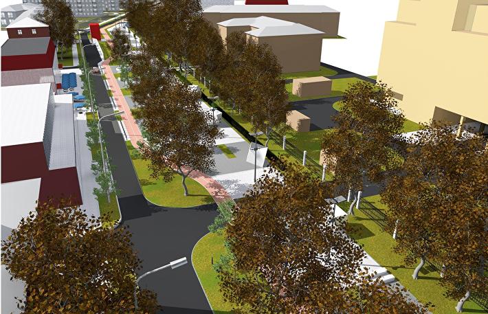 Проект пешеходной улицы в Щелково