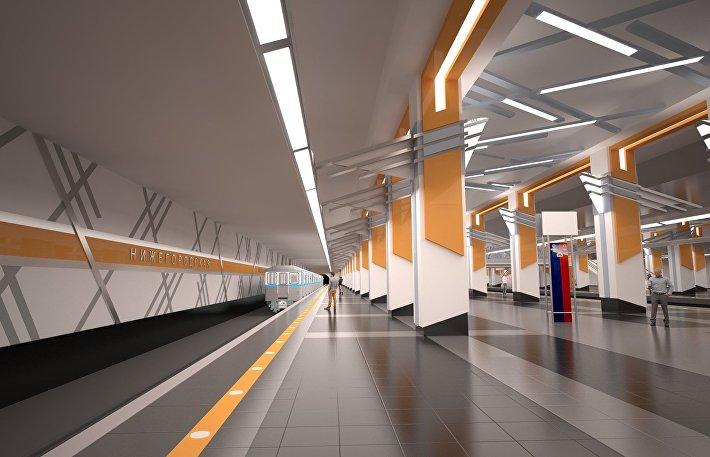 Станция Нижегородская Кожуховской линии метро Москвы