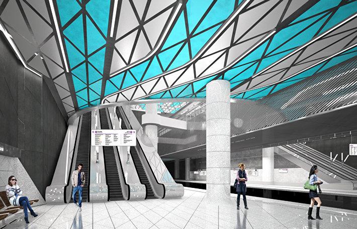 Станция Окская Кожуховской линии метро Москвы