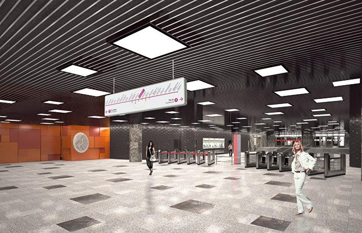 Станция Стахановская Кожуховской линии метро Москвы