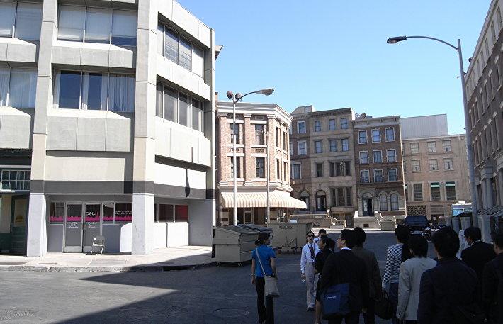 Бутафорские здания на студии Paramount Pictures