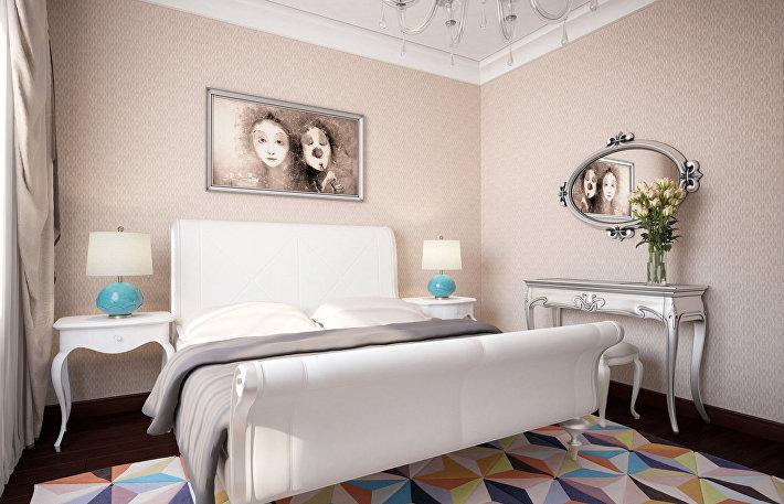 Один из вариантов отделки спальни в ЖК «Сердце Столицы»